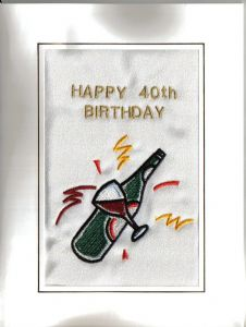 HAPPY BIRTHDAY - Bottle of Wine - cards